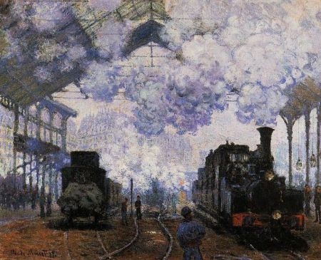 Arrival at Saint Lazare Station by Claude Monet